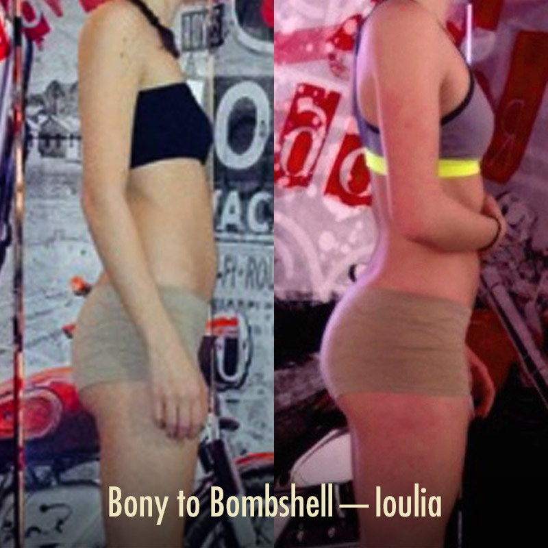 Bony to Bombshell Womens Weight Gain Transformation Before and After Photo