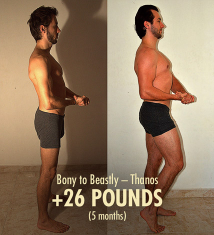 Bony to Beastly Thanos Before and After