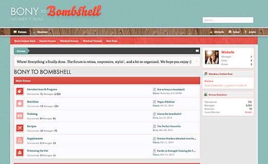 The Bony to Bombshell Community Forums