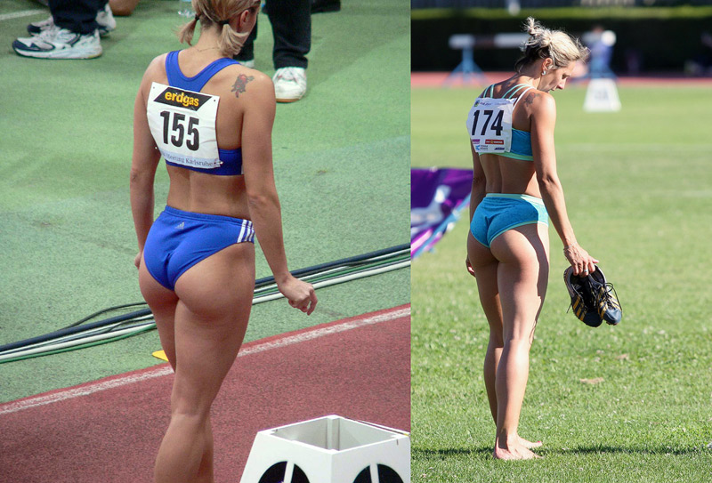 sexiest / most attractive female amount of muscle … sprinter's glutes
