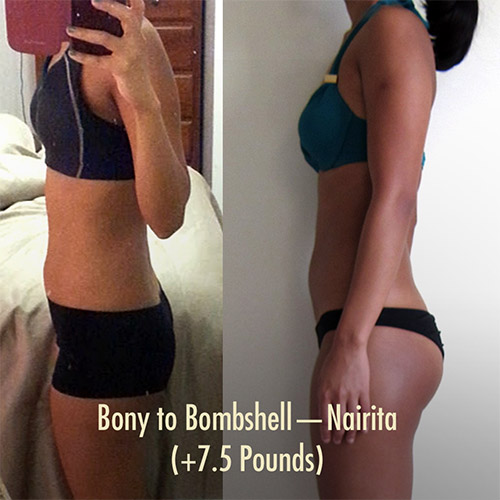Bony to Bombshell Muscle-building / Weight Gain Program for Skinny Women—Nairita