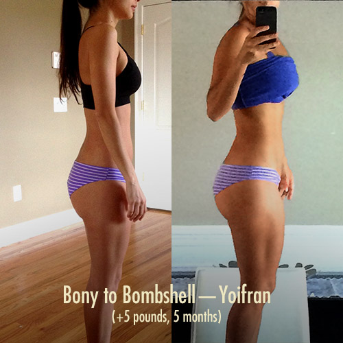 Bony to Bombshell Muscle-building / Weight Gain Program for Skinny Women—Yoifran