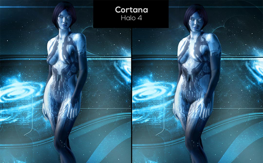 Thin Ectomorphs Given Makeovers to Look Like Average Endomorphs (Cortana)
