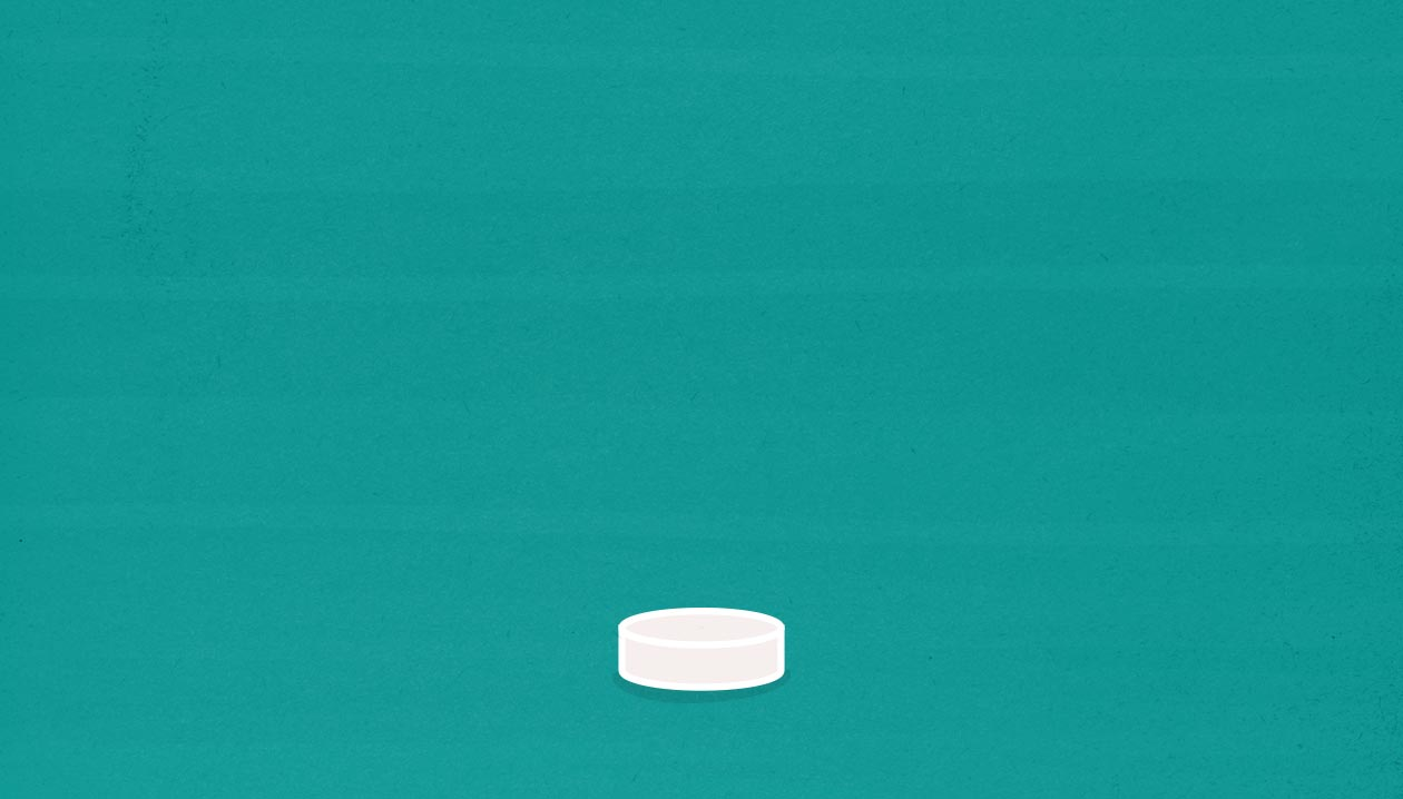 Illustration of a birth control pill.